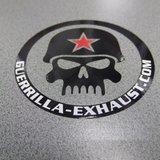 Guerrilla Skull sticker - rond_