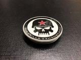 Guerrilla popsocket met zwart-wit Skull logo_